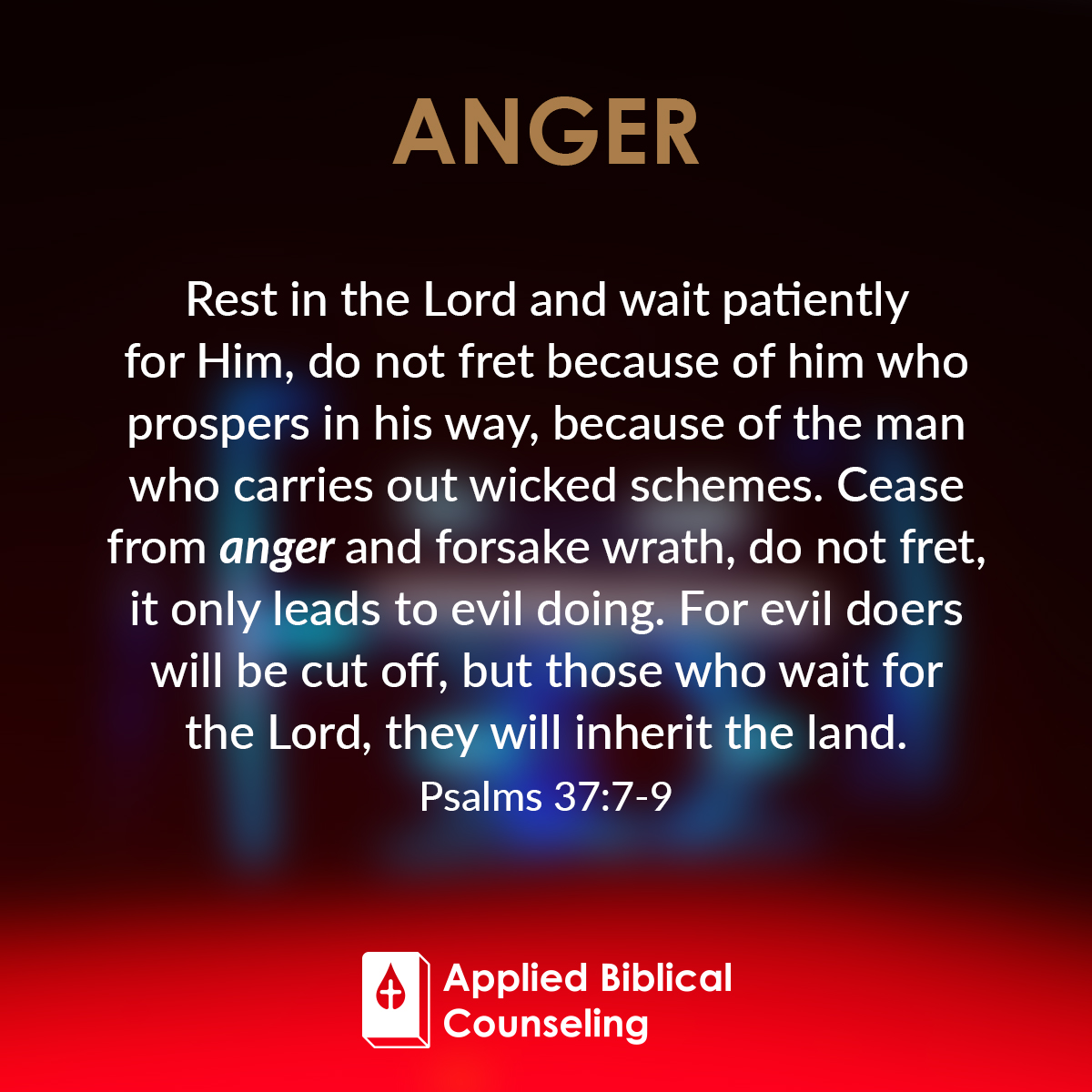 Anger Verses: Applied Biblical Counseling