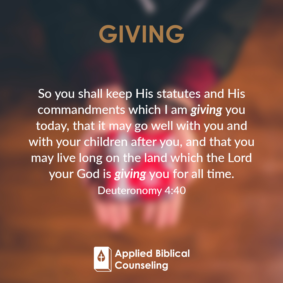 Giving Applied Biblical Counseling 2