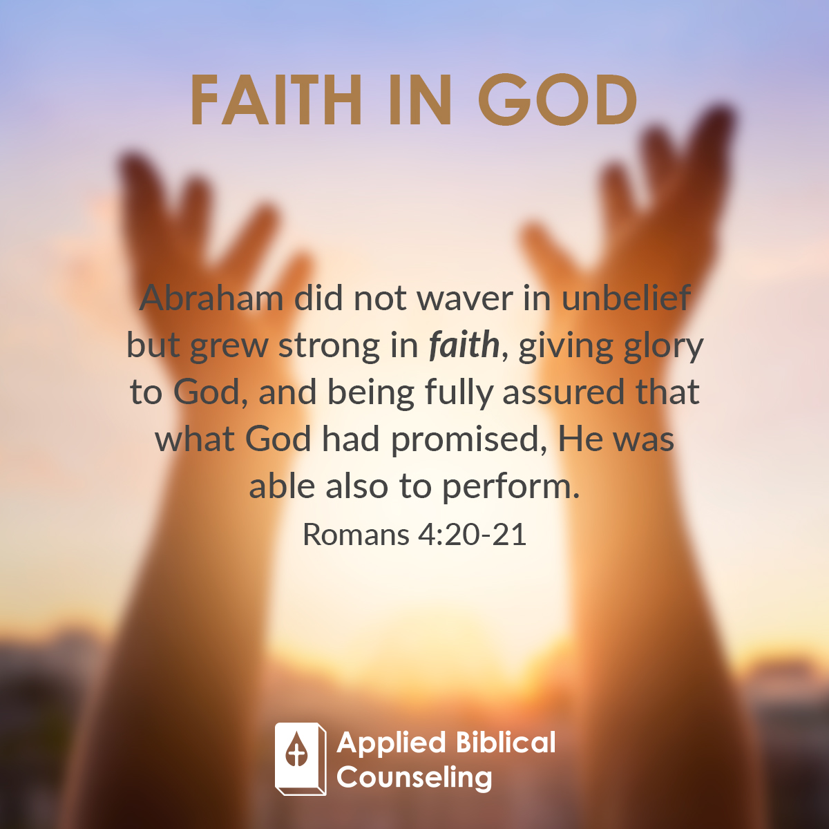 Faith In God Applied Biblical Counseling 1