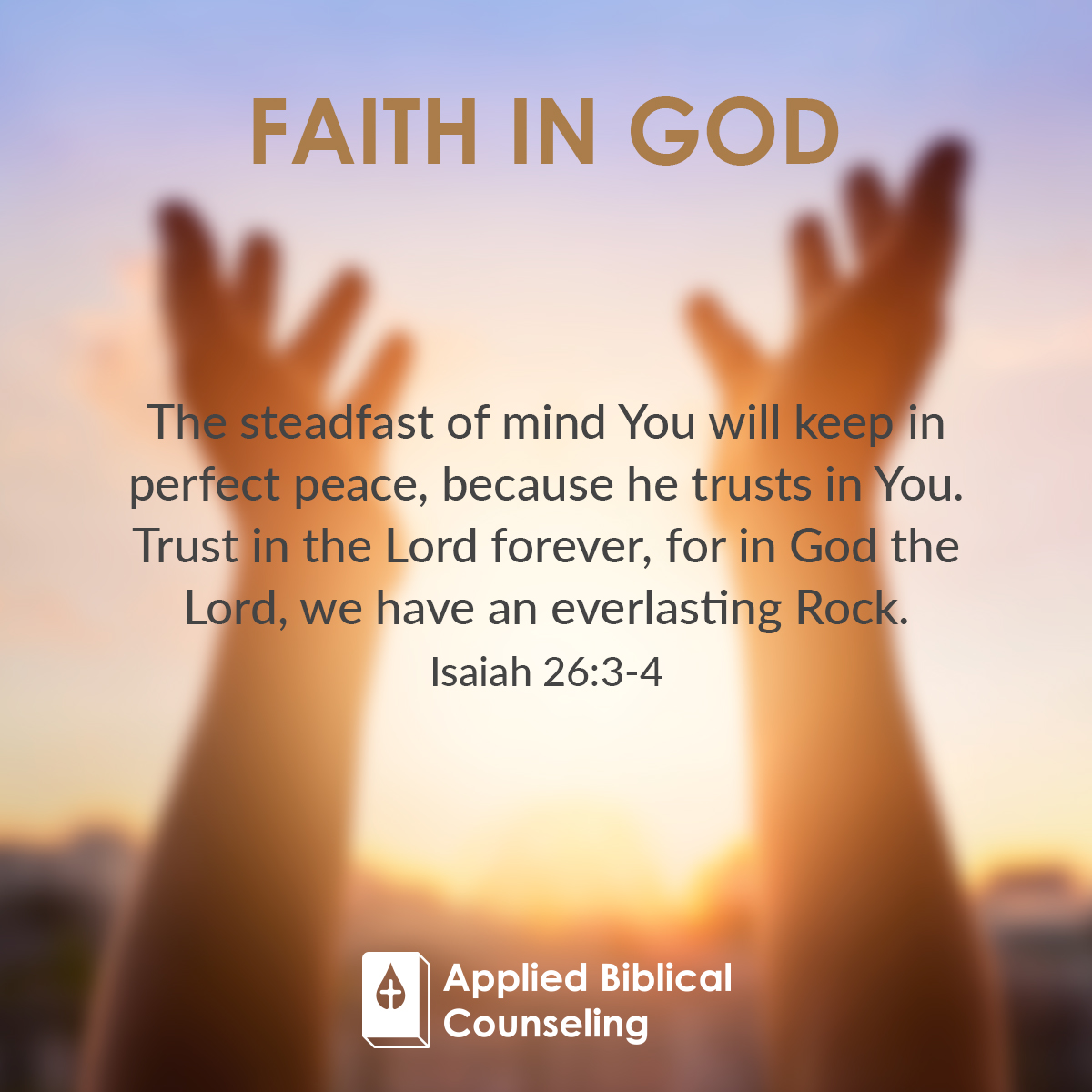 Faith In God Applied Biblical Counseling 4