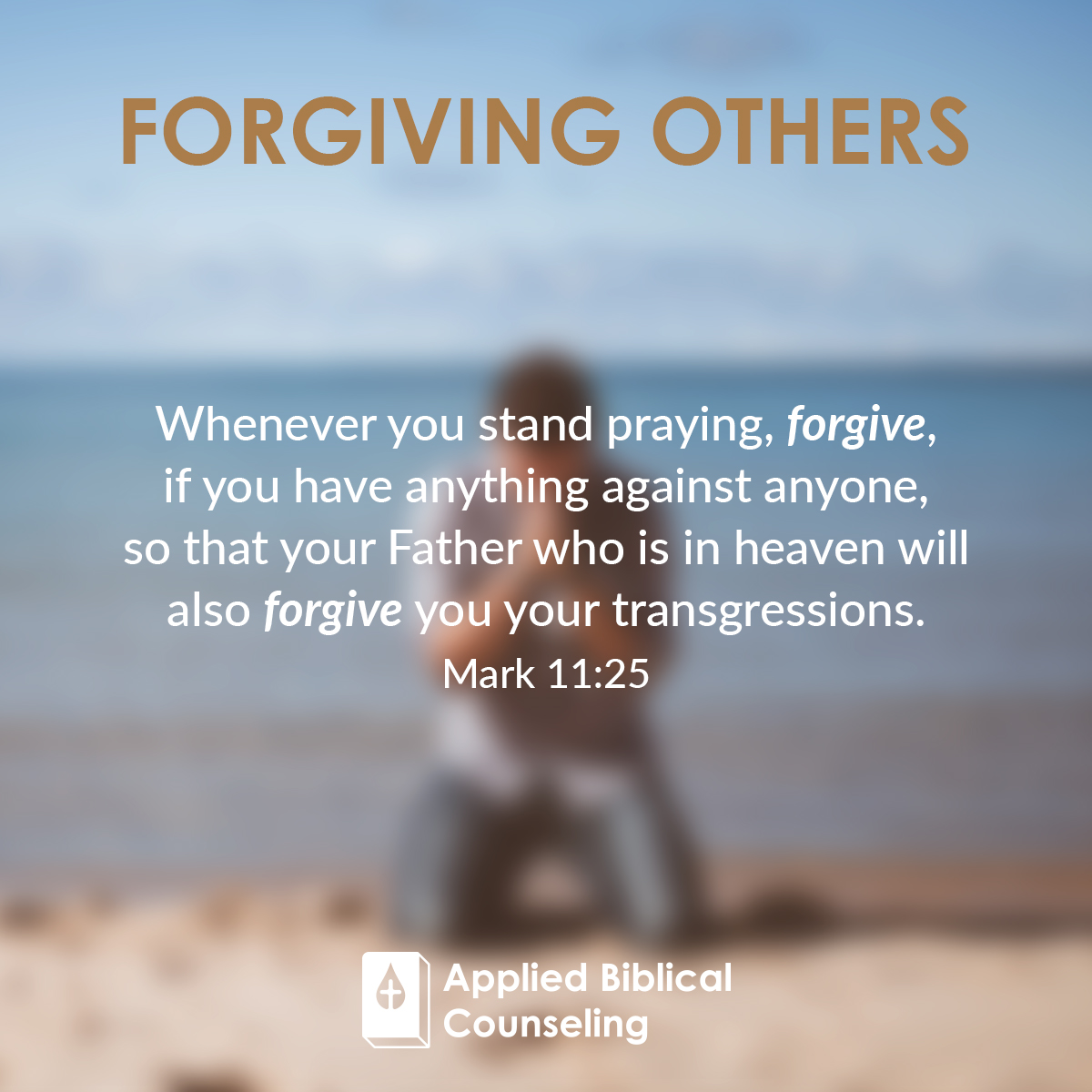 Forgiving Others Applied Biblical Counseling 4