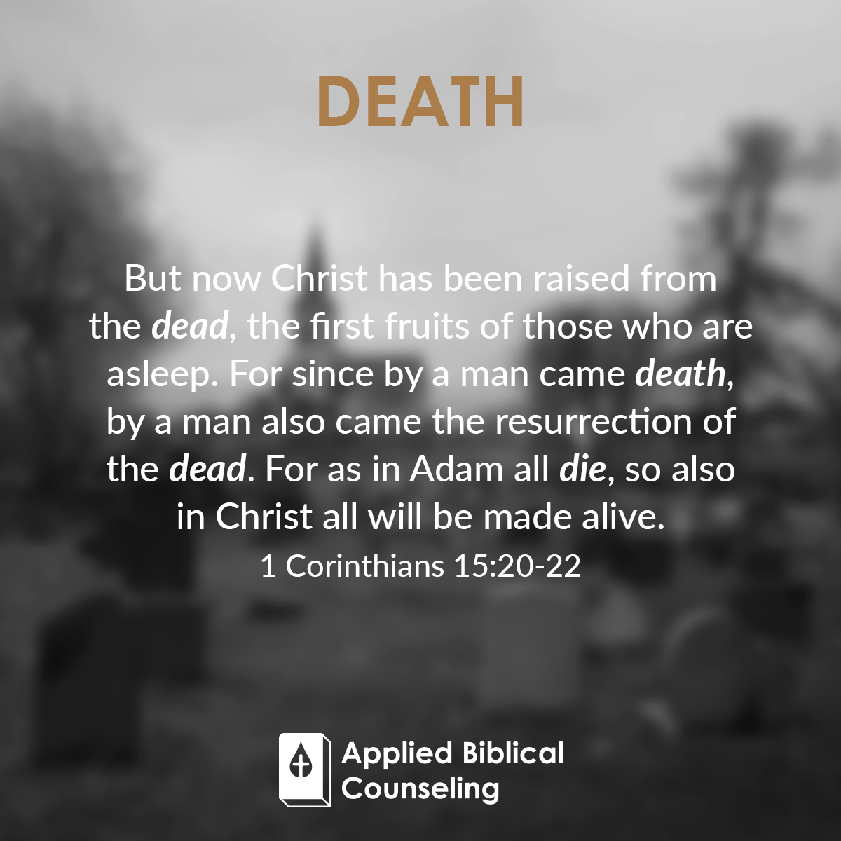 Death Applied Biblical Counseling 1