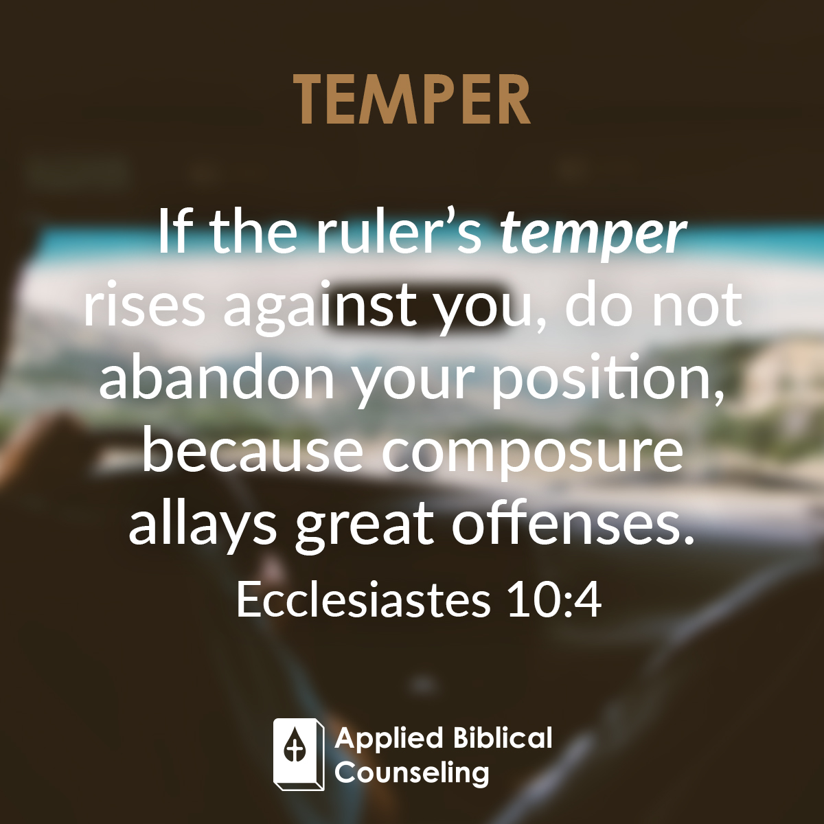 Temper Applied Biblical Counseling 3