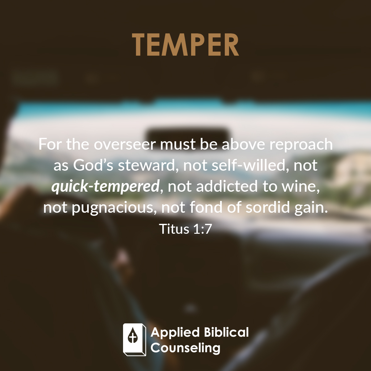 Temper Applied Biblical Counseling 4