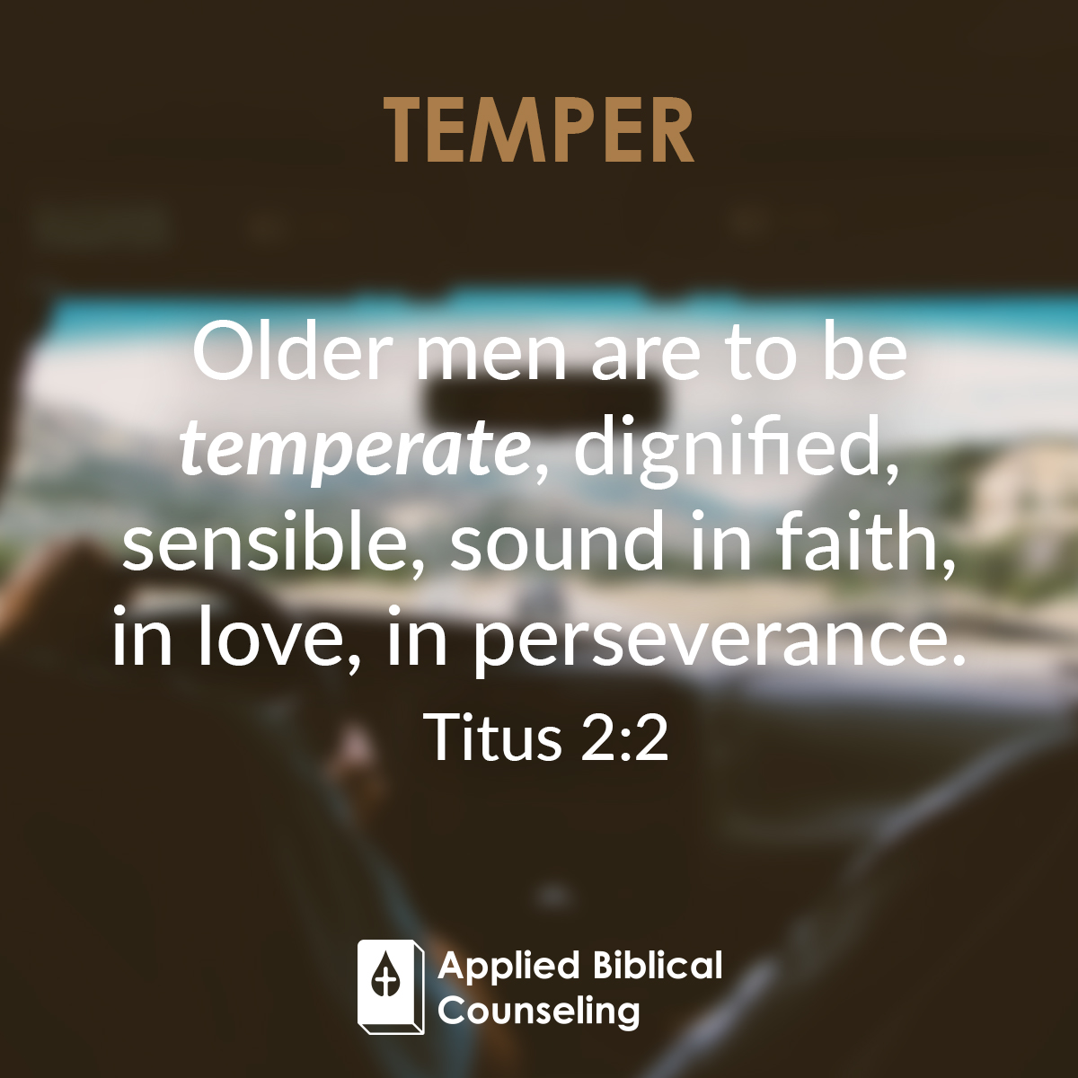 Temper Applied Biblical Counseling 5