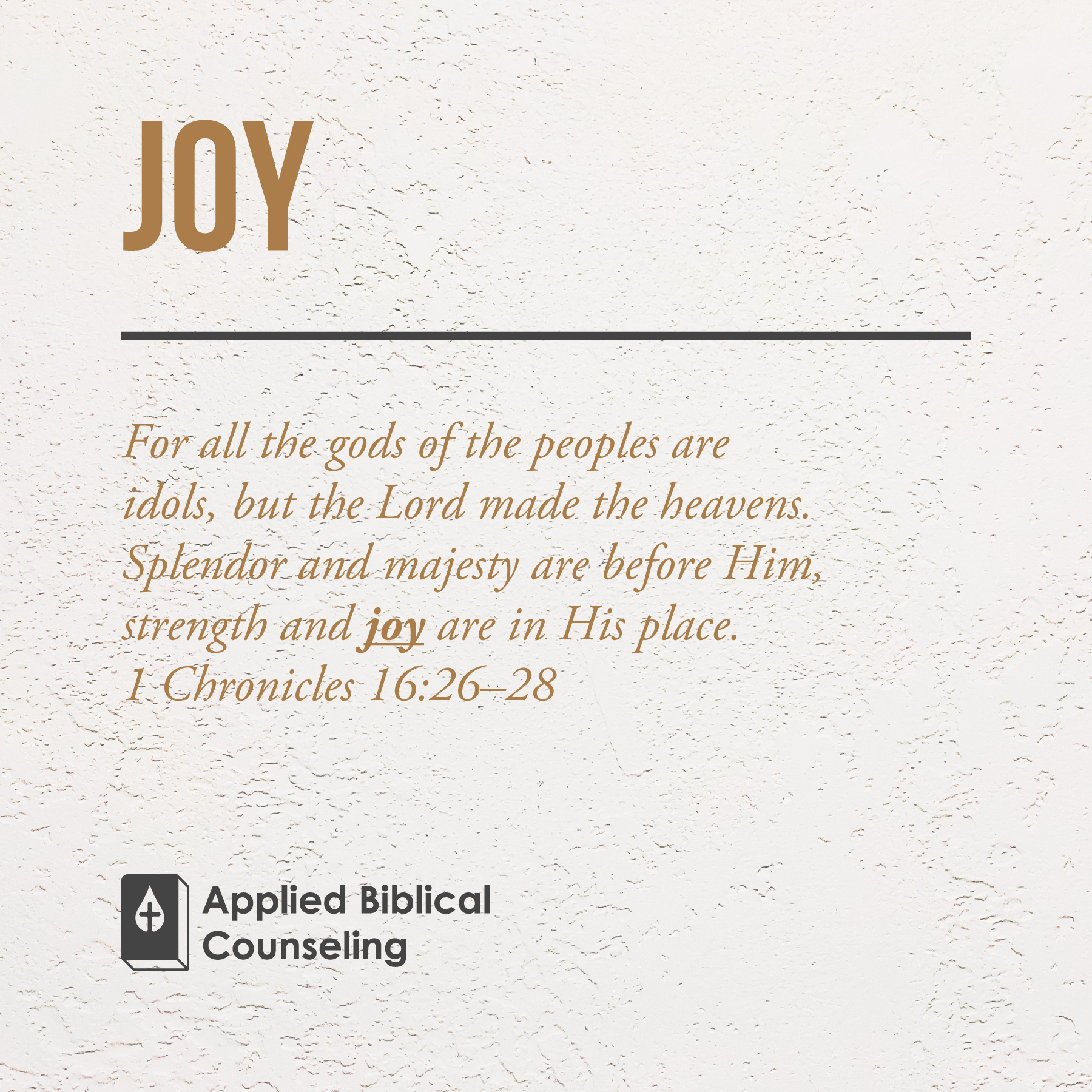 Joy Applied Biblical Counseling