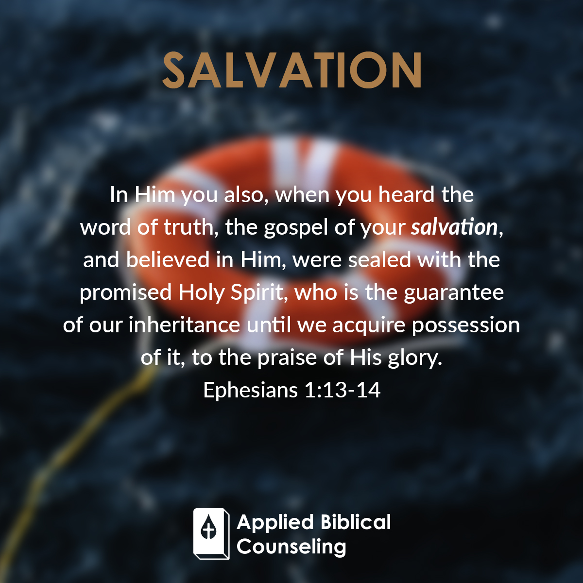 Salvation Applied Biblical Counseling